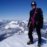 on the summit of Mt Aspiring