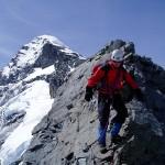 Descending Mt Aspiring