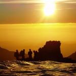 mountain guiding course sunset