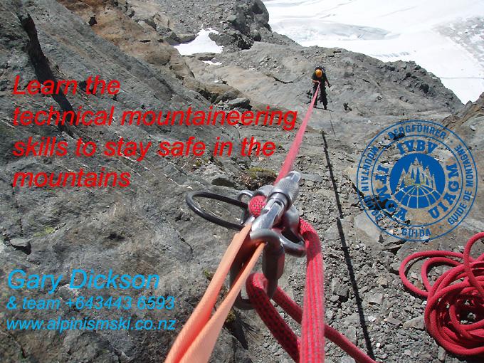 Alpine Climbing instruction course NZ